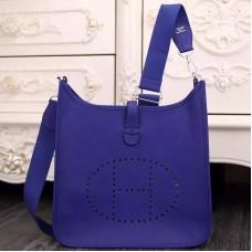 Hermes Electric Blue Evelyne III PM Bag