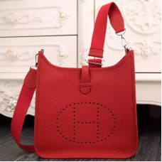 Hermes Red Evelyne III PM Bag
