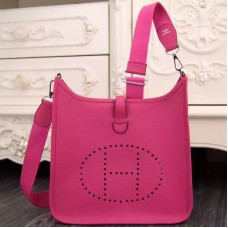 Hermes Rose Red Evelyne III PM Bag