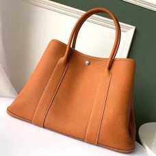 Hermes Tan Fjord Garden Party 30cm With Printed Lining