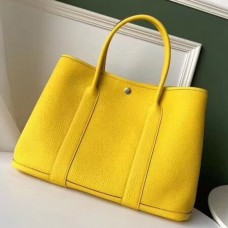 Hermes Yellow Fjord Garden Party 30cm With Printed Lining