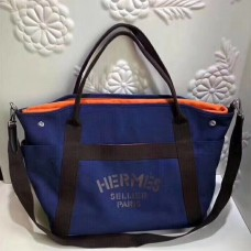 Hermes Blue Functional Grooming Bag