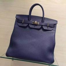Hermes Blue Haut a Courroies HAC Birkin 40cm Bag
