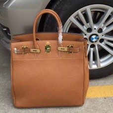 Hermes Brown Haut a Courroies HAC Birkin 40cm Bag