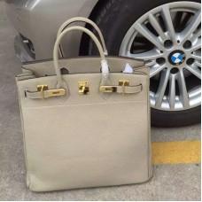 Hermes Grey Haut a Courroies HAC Birkin 40cm Bag