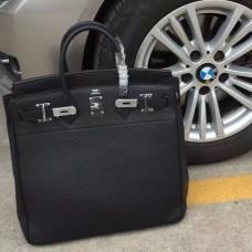 Hermes Black Haut a Courroies HAC Birkin 40cm Bag