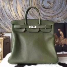 Hermes Green Haut a Courroies HAC Birkin 40cm Bag