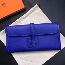 Hermes Electric Blue Epsom Jige Elan 29 Clutch