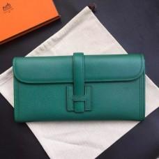 Hermes Dark Green Epsom Jige Elan 29 Clutch