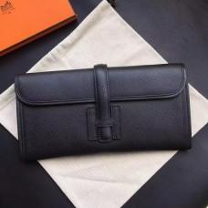Hermes Black Epsom Jige Elan 29 Clutch