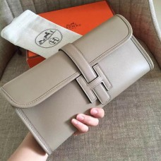 Hermes Grey Swift Jige Elan 29 Clutch