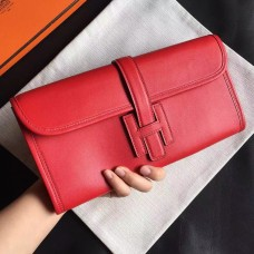 Hermes Red Swift Jige Elan 29 Clutch