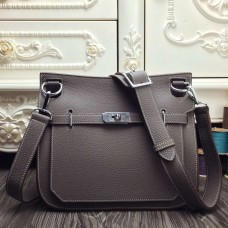 Hermes Grey Large Jypsiere 34cm Bag