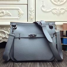 Hermes Blue Lin Large Jypsiere 34cm Bag