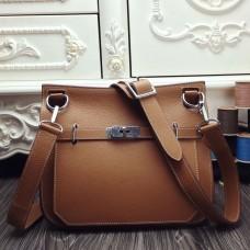 Hermes Brown Medium Jypsiere 31cm Bag