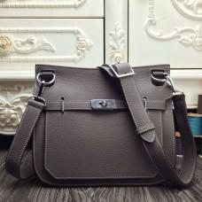 Hermes Grey Medium Jypsiere 31cm Bag