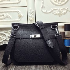Hermes Black Medium Jypsiere 31cm Bag