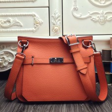 Hermes Orange Medium Jypsiere 31cm Bag