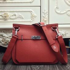 Hermes Red Medium Jypsiere 31cm Bag