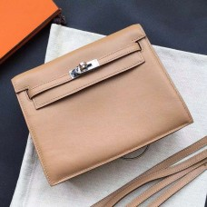 Hermes Kelly Danse Bag In Brown Swift Leather