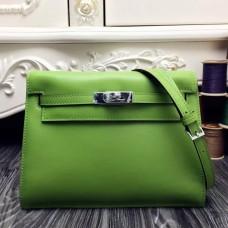 Hermes Kelly Danse Bag In Green Swift Leather