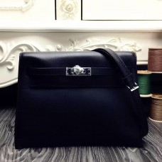 Hermes Kelly Danse Bag In Black Swift Leather