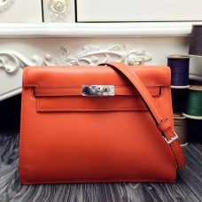 Hermes Kelly Danse Bag In Orange Swift Leather