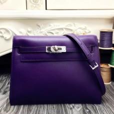 Hermes Kelly Danse Bag In Purple Swift Leather
