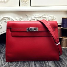 Hermes Kelly Danse Bag In Red Swift Leather