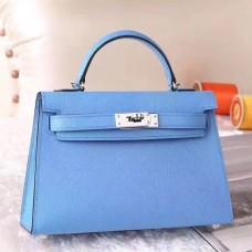 Hermes Celeste Epsom Kelly Mini II 20cm Handmade Bag