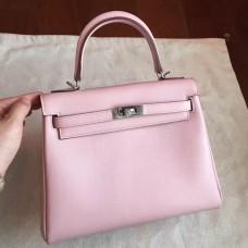 Hermes Rose Dragee Swift Kelly 25cm Retourne Handmade Bag
