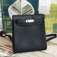 Hermes Black Clemence Kelly Ado PM Backpack