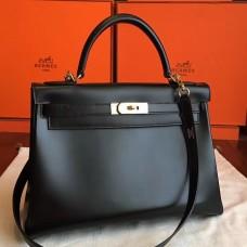 Hermes Black Box Kelly Retourne 32cm Handmade Bag