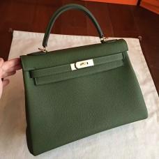 Hermes Canopee Clemence Kelly Retourne 32cm Handmade Bag