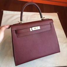 Hermes Bordeaux Epsom Kelly Sellier 28cm Handmade Bag