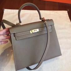 Hermes Etoupe Epsom Kelly Sellier 28cm Handmade Bag