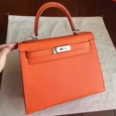 Hermes Orange Epsom Kelly Sellier 28cm Handmade Bag