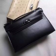 Hermes So Black Kelly Pochette Handmade Bag