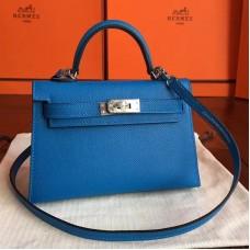 Hermes Mykonos Epsom Kelly Mini II 20cm Handmade Bag