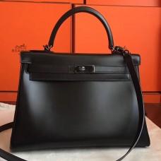 Hermes So Black Box Kelly Retourne 32cm Handmade Bag