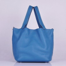 Hermes Picotin Lock Bag In Blue Leather
