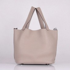 Hermes Picotin Lock Bag In Grey Leather