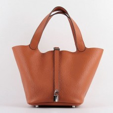 Hermes Picotin Lock Bag In Orange Leather