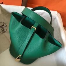 Hermes Vert Vertigo Picotin Lock PM 18cm Handmade Bag