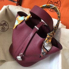 Hermes Ruby Picotin Lock MM 22cm Handmade Bag