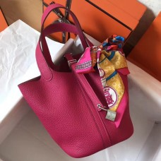 Hermes Peach Picotin Lock MM 22cm Handmade Bag