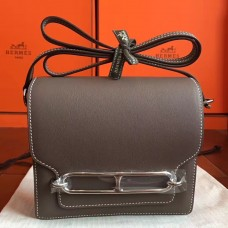 Hermes Mini Sac Roulis Bag In Etoupe Swift Leather