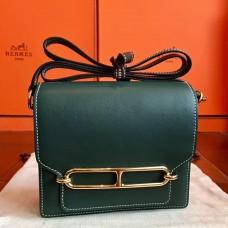 Hermes Mini Sac Roulis Bag In Green Swift Leather