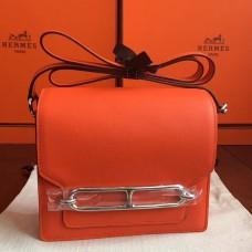 Hermes Mini Sac Roulis Bag In Orange Swift Leather