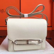 Hermes Mini Sac Roulis Bag In Ivory Swift Leather